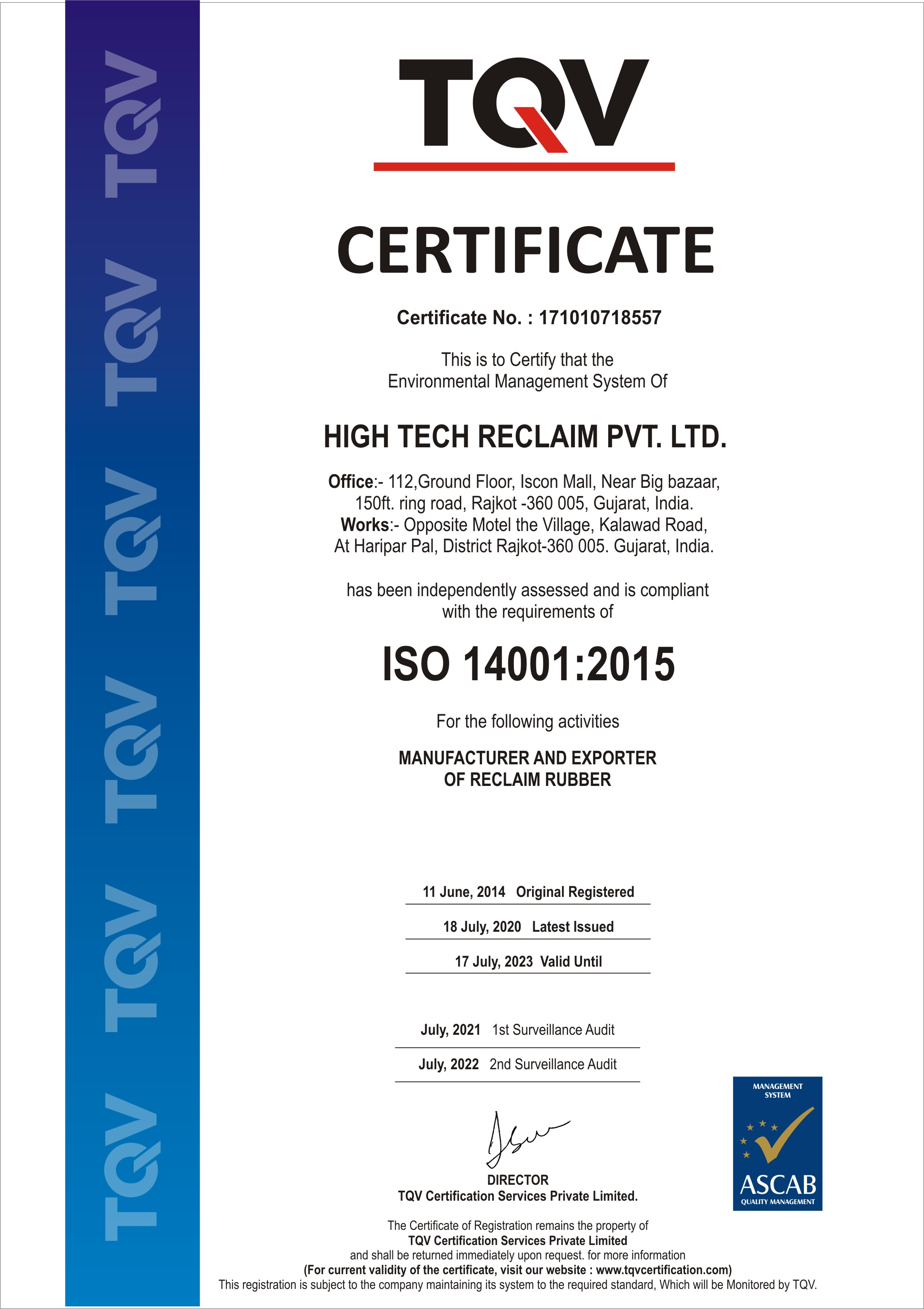 Certified-Reclaim-Rubber-Manufacturer
