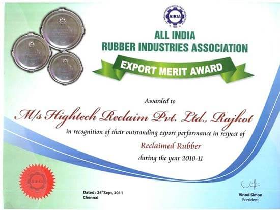 ExportMeritCertificateforReclaimed-Rubber